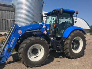 Tracteur new Holland t6145 2018 presque neuf 235 heure