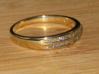 10k gold ring with 20 diamonds, size 9