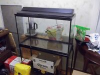 35 gal fish tank with stand and light no leaks