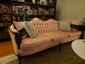 Vintage/ Antique French Provincial sofa, loveseat and tub chair