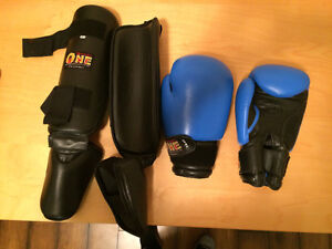 Sport One Sparring pads. Kickboxing. Gloves. Shin Pads.