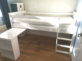Windermere low level bunk bed desk draws and bookshelf