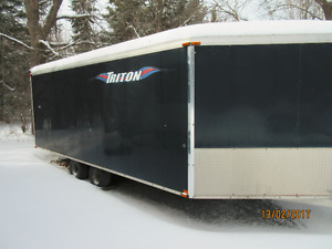 "2005 Triton 20 foot X 102"" tandem trailer 6.5 foot interior"
