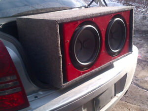 "2 x Exile (Xi12DVC) 12"" Subwoofers in Ported Box 1200rms"