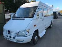 Mercedes-Benz Sprinter 411 cdi minibus wheelchair ramp 10 seats plus wheelchairs