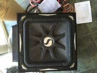 """L7 kicker 15"""" with pioneer amp and wiring kit"""