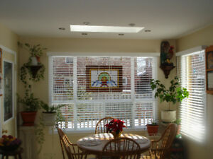 3 White Faux Wood Blinds And All Hardware