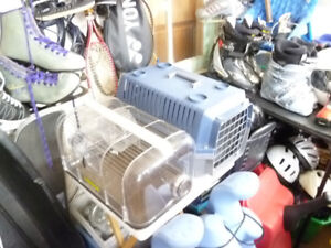 HAMSTER CAGE,BUDGIE CAGE,ALUMINUM SHOVELS,AND MORE
