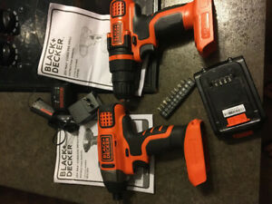 Black and decker driver and drill set