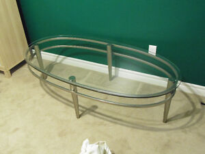 Glass & Stainless Coffee Table