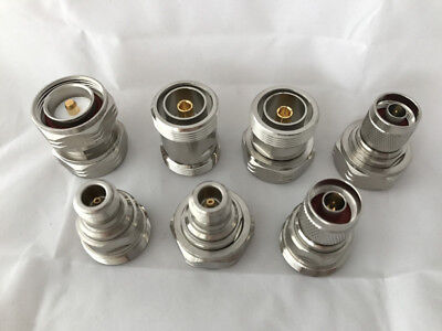 7PCS/SET  7/16  DIN to DIN & Type N F-M FEMALE & MALE Connector Adapter Kit