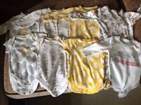 Next and Disney upto 3 months baby grows and vests