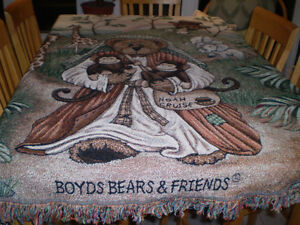 BOYDS BEARS NOAHS ARK THROW