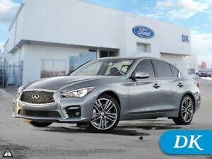 2014 INFINITI Q50 Sport AWD w/Leather, Moonroof, Nav, and More!
