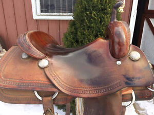 "16.5"" Roohide cutting saddle for sale"