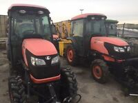 Kubota Tractors with Snow Plows and Blowers