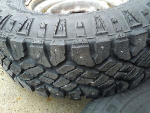 245/75R16 Studded Snow Tires in Great Condition
