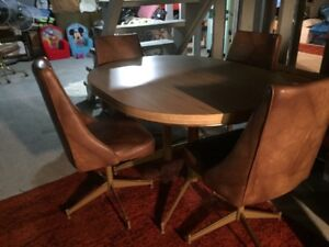 2 Wooden Kitchen Tables with 4 Chairs each