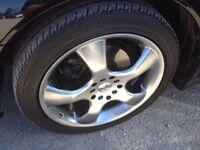 Rare wheels with tires - 215/45/17 Jetta golf celica Impreza
