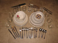 Dishes,pots,frying pan,glasses,silverware for sale