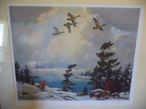 "Iconic Painting by Frank Panabaker ""Winter Storm"" 1957 Signed/Nu Stratford Kitchener Area image 2"