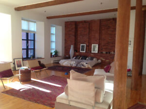 SUNNY LOFT Griffintown ~ Furnished SUBLET or LEASE TAKEOVER