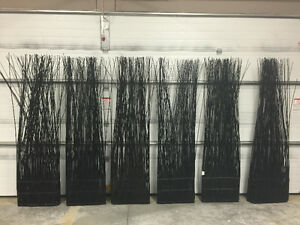Tall black twigs panels - all for $200 or $40 each