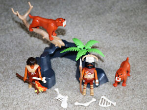 Playmobil - Sabre Tooth Cats with Cavemen