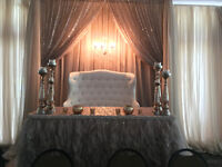 Bride & Groom CHAIR/SOFA Rent & Full Selection of Wedding decor