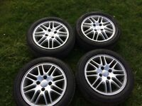 Ford alloy wheels set of 4 195/55r15 tyres