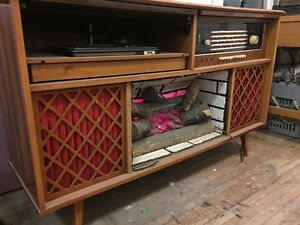 Vintage Fireplace/Stereo - Made in communist East Germany