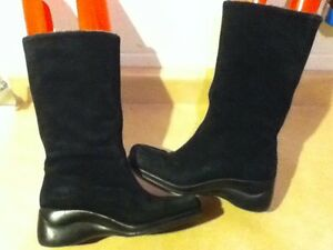 Women's Tall Suede Winter Boots Size 7