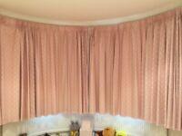 Pink spotty blackout curtains