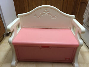 Pink Bench / Storage (toy box, mitts etc) for kids