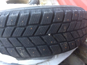 4 Studded Tires with Rims