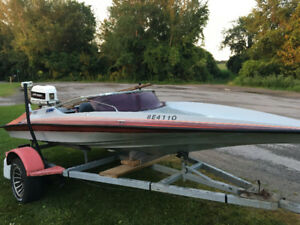 16 Foot Hydrostream With 90 hp Johnson and Trailer