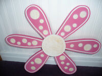 For Sale...A nice Wooden pink & white daisy wall accent