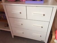 White solid sideboard for urgent sale