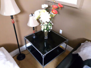 Beautiful Glass Top Tea / Coffee Table for Sale