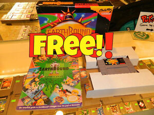 Free CIB Earthbound! $110 Chrono Trigger Grand Opening Deals!