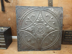 Antique Tin Crown moldings and ceiling tiles
