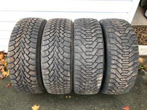4 WINTER TIRES, $300  215/55/R17 NORDIC, GOODYEAR