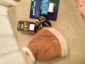 Designer booties and suede American Kennel club jacket &bag d