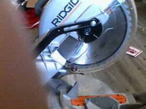 RIDGID 10 in Compound Miter Saw with Laser Guide System