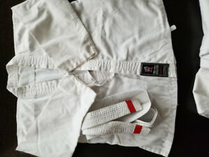 Boy karate costume with belt,  good fit for 4-5 year old