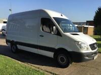 2012 12 MERCEDES-BENZ SPRINTER 2.1 313CDI MWB HIGH ROOF 130BHP. LOW 57,000 MILES