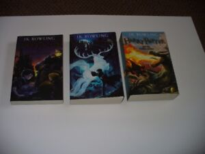 Three SOFT COVER Harry Potter Books: Printed in UK