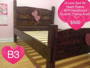 SOLID WOOD QUEEN BED W/ HEADBOARD, FOOTBOARD, RAILS AND SLATS Kingston Kingston Area image 4