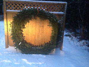 Balsam Fir Christmas Wreath 60in