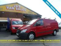 2013 13 MERCEDES-BENZ VITO VITO LWB 2013 13 REG 1 OWNER IN BRIGHT ROSSO RED LOW